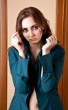 Mooi meisje in overhemd Stock Afbeelding
