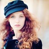 Mooi meisje in park Stock Foto