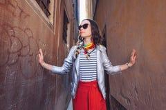 Mooi meisje in Veneti? stock afbeeldingen