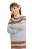 Mooi meisje in verbindingsdraad Royalty-vrije Stock Foto's