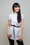Mooi meisje in wit Royalty-vrije Stock Foto's