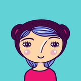 Mooi meisjeportret Stock Foto