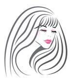 Mooi meisjesgezicht stock illustratie