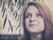 Mooi meisjesgezicht Stock Foto