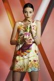Mooi meisjesmodel met water Stock Afbeelding