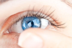 Mooi menselijk oog Stock Foto's