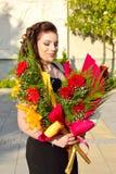 Mooi met bloemen stock foto