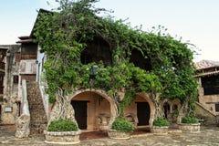 Mooi middeleeuws huis in de Caraïben stock afbeelding