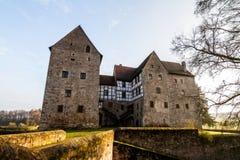 Mooi middeleeuws waterkasteel Brennhausen stock afbeelding