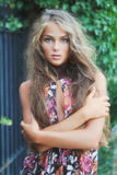 Mooi model met lang haar royalty-vrije stock afbeeldingen