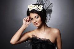 Mooi model in uitstekend bruids beeld Royalty-vrije Stock Foto's