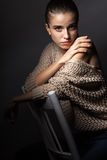 Mooi Modelportret Stock Foto
