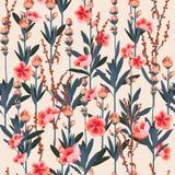 Mooi Modieuze Tuin bloemenpatroon in het vele soort flo royalty-vrije illustratie