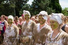 Mooi Muddy Race voor het Leven Stock Fotografie