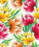 Mooi naadloos behang van vectorbloemen vector illustratie