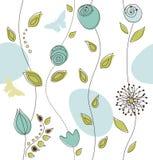 Mooi Naadloos BloemenPatroon Royalty-vrije Stock Afbeelding