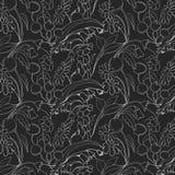 Mooi naadloos bloemenpatroon Bloem vectorachtergrond Royalty-vrije Stock Fotografie