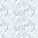 Mooi naadloos bloemenpatroon Bloem vectorachtergrond Stock Foto's