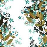 Mooi naadloos bloemenpatroon, bloem vectorillustratie met vergeet-mij-nietje Decoratieve vectorillustratietextuur op wit royalty-vrije illustratie