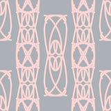 Mooi naadloos patroon met decoratieve elementen Royalty-vrije Stock Afbeeldingen