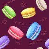 Mooi naadloos patroon met Frans dessert Royalty-vrije Stock Foto's