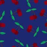 Mooi naadloos patroon met kersen Royalty-vrije Stock Fotografie