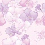 Mooi Naadloos Patroon met Orchideebloemen Stock Afbeelding