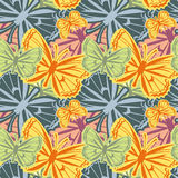 Mooi naadloos patroon met vlinders vector illustratie