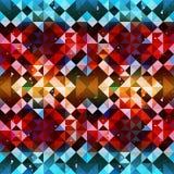 Mooi naadloos patroon van gekleurde pixel Stock Afbeeldingen