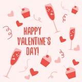 Mooi naadloos patroon voor de Dag van Valentine Royalty-vrije Stock Afbeelding