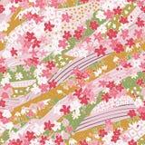 Mooi naadloos patroon in washidocument stijl royalty-vrije stock foto's