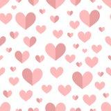 Mooi naadloos romantisch patroon met Harten en erwten vector illustratie