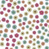 Mooi naadloos romantisch patroon met kleurrijke bloemen Stock Afbeelding