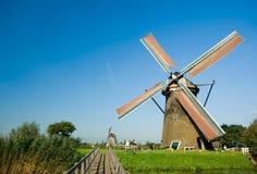 Mooi Nederlands windmolenland royalty-vrije stock foto's