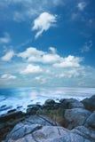 Mooi ochtend overzees landschap Stock Foto
