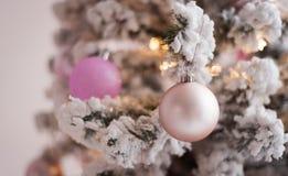 Mooi ondoorzichtig gebied op een Kerstboom De achtergrond van het nieuwjaar royalty-vrije stock fotografie