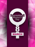 Mooi ontwerp als achtergrond voor de dag van Vrouwen Royalty-vrije Stock Foto