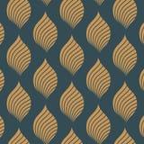 Mooi oosters patroon van abstracte lotusbloembloem en groene decoratieve grens Vector illustratie stock illustratie