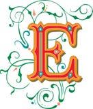 Mooi ornament, Brief E Royalty-vrije Stock Afbeeldingen