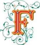 Mooi ornament, Brief F Stock Foto's