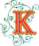 Mooi ornament, Brief K Royalty-vrije Stock Afbeelding