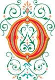 Mooi ornament, Brief O Royalty-vrije Stock Foto's