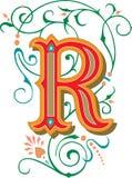 Mooi ornament, Brief R Royalty-vrije Stock Afbeeldingen