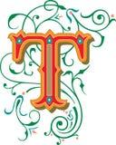 Mooi ornament, Brief T Stock Afbeeldingen