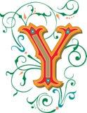 Mooi ornament, Brief Y Stock Afbeelding