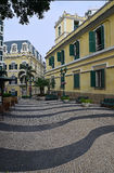 Mooi oud historisch de stadsvierkant van Macao van Largo de Santo Agostinho Royalty-vrije Stock Fotografie