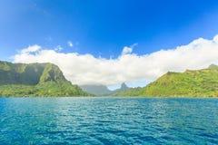 Mooi overzees en Moorae-Eiland in Tahiti, PAPEETE, FRANSE POLY royalty-vrije stock foto's