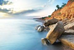 Mooi overzees landschap Stock Afbeelding