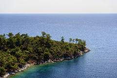 Mooi overzees landschap in Griekenland Royalty-vrije Stock Foto