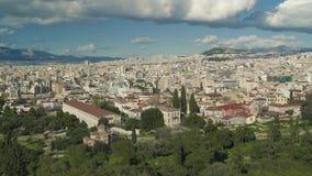 Mooi overzie van Athene Griekenland stock footage